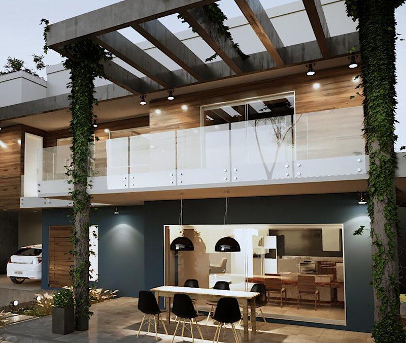 Casa Fachada moderna DF
