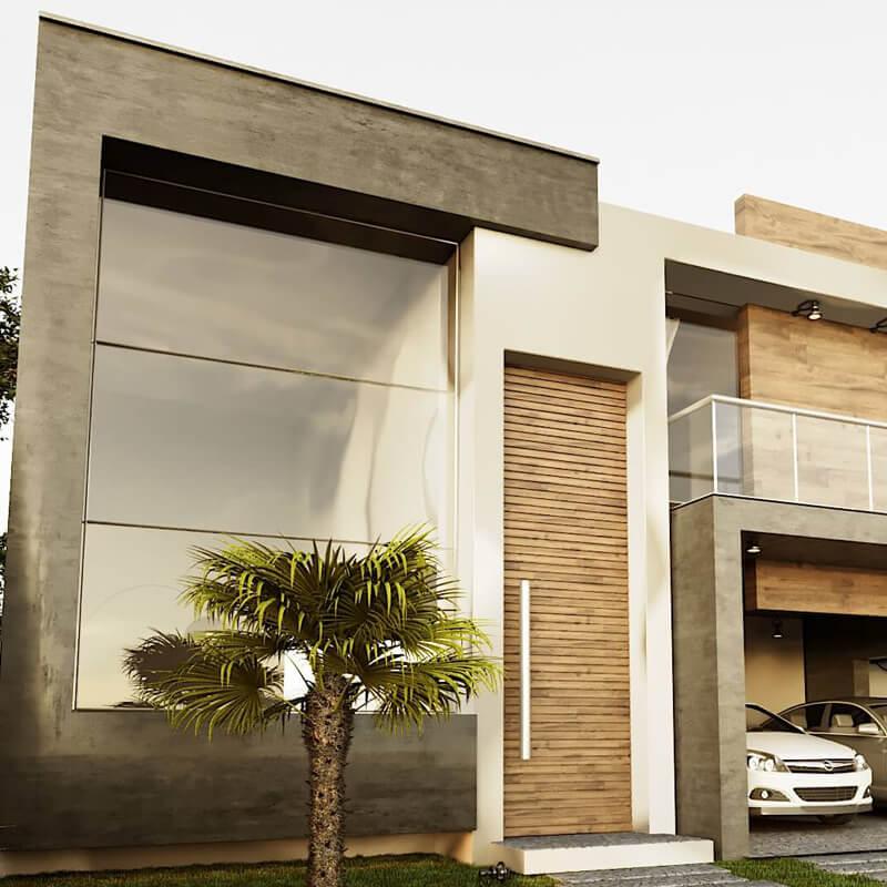 Fachada Projeto de casas arquitetura contemporânea