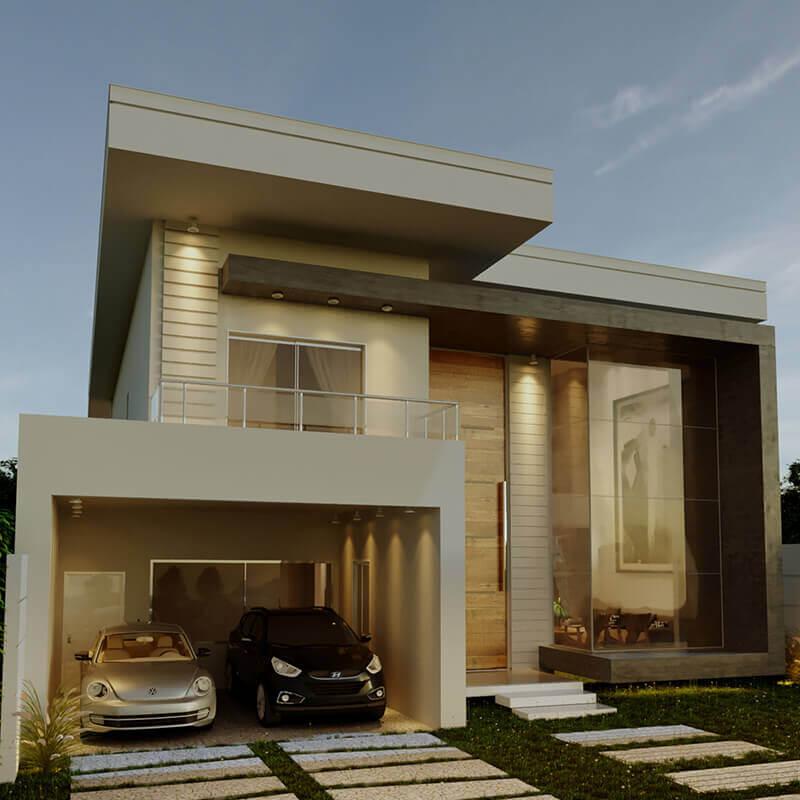 Fachada Casa Contemporânea